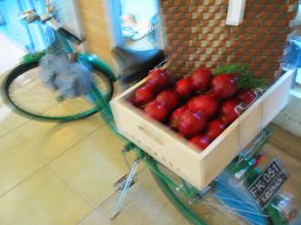 リンゴと自転車