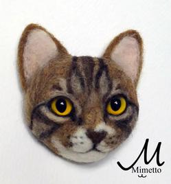 猫顔ブローチ オーダー