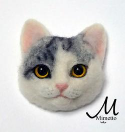 猫顔ブローチ オーダーのサムネイル画像