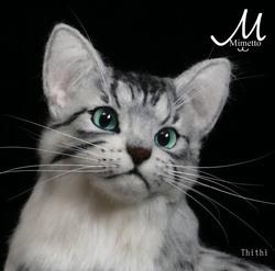 エジプシャンマウ ティティ 羊毛フェルト 熊木早苗 ミメット 教室 Realistic cat