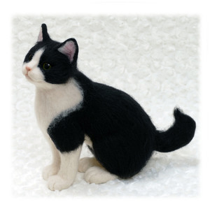 羊毛フェルト メンちゃん ミメット はちわれ猫