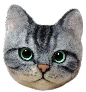 羊毛フェルト 猫顔ブローチ 1day スクール 熊木早苗 ミメット ワークショップ 教室