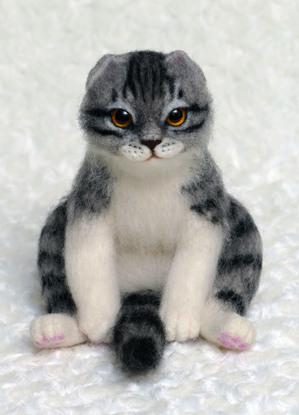 スコティッシュフォールド うちのこそっくり 熊木早苗 ミメット 猫 羊毛フェルト