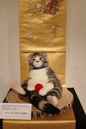 桜宵一刻 個展 熊木早苗 スコティッシュフォールド スコ座り 猫 羊毛フェルト