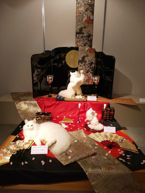 春宵一刻 熊木早苗 個展 羊毛フェルト 猫 白猫 教室